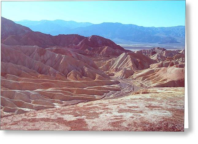 Field. Cloud Greeting Cards - Death Valley Mountains 2 Greeting Card by Naxart Studio