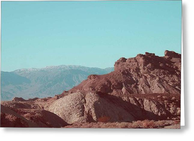 Field. Cloud Greeting Cards - Death Valley Mountains Greeting Card by Naxart Studio