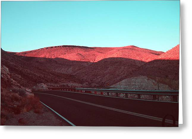 Mountain Road Greeting Cards - Death Valley Road 4 Greeting Card by Naxart Studio