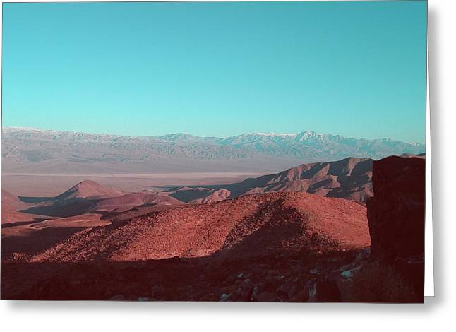 Mountain Road Greeting Cards - Death Valley View 1 Greeting Card by Naxart Studio