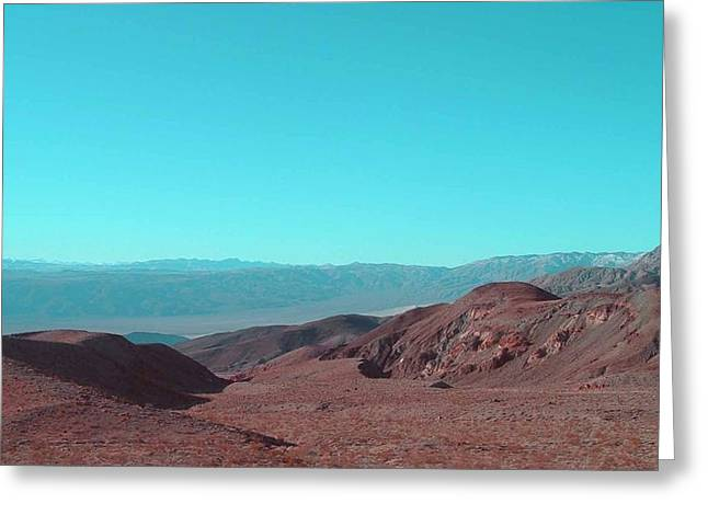 Summer Landscape Photography Greeting Cards - Death Valley View Greeting Card by Naxart Studio