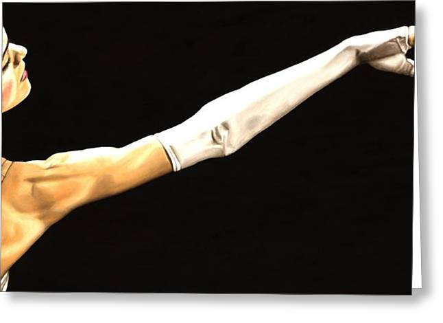 White Ballerina Greeting Cards - Deathly Seduction Greeting Card by Richard Young