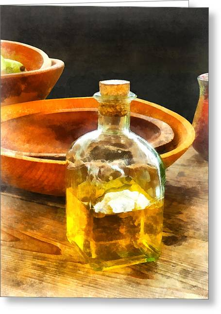 Caterer Greeting Cards - Decanter of Oil Greeting Card by Susan Savad