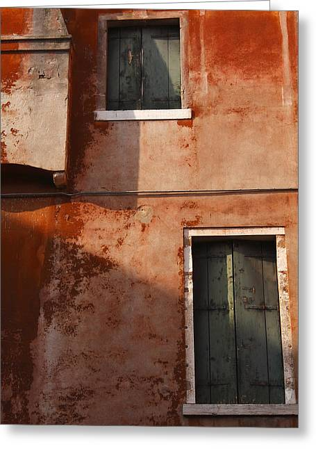 Decayed Facade Of A Building Venice Greeting Card by Trish Punch