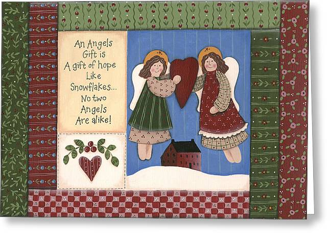 December Angel Greeting Card by Debbie McMaster