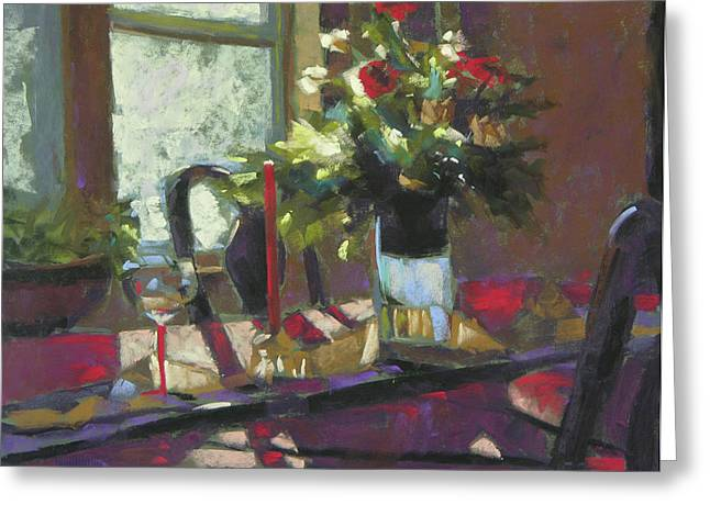 Table Pastels Greeting Cards - December Morning Light Greeting Card by Mary McInnis