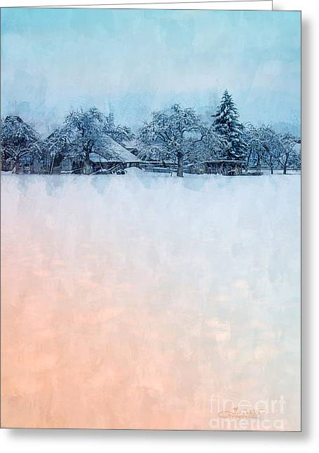 Winter Photos Greeting Cards - December Snow Greeting Card by Jutta Maria Pusl