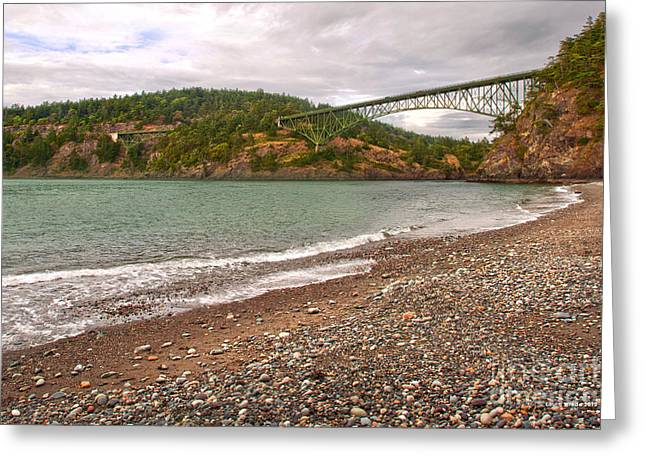 Deception Pass In Washington State Greeting Cards - Deception Pass Washington Greeting Card by Artist and Photographer Laura Wrede
