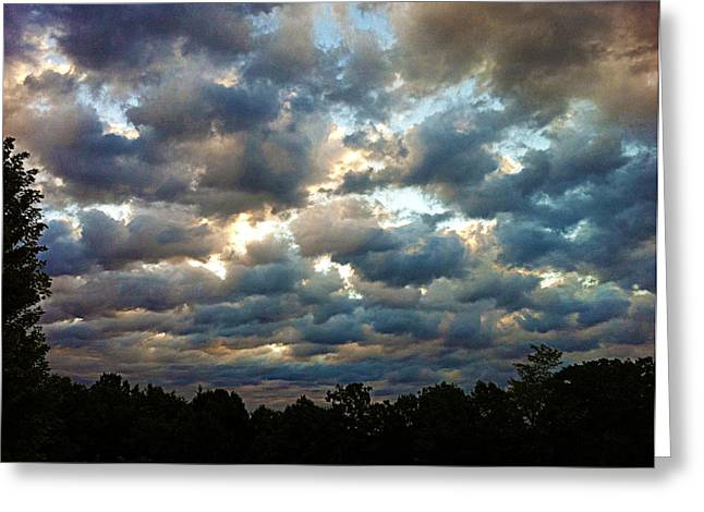 Deceptive Clouds Greeting Card by Cricket Hackmann