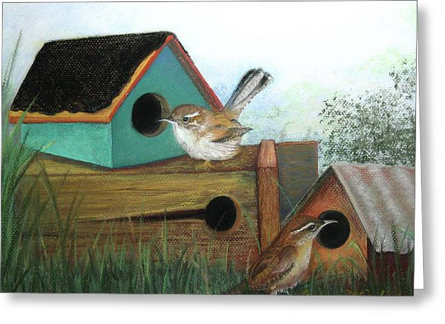 Pair Pastels Greeting Cards - Decisions Decisions Greeting Card by Lorraine McFarland