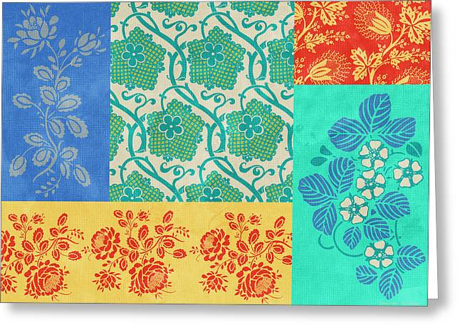 Quilt Greeting Cards - Deco Flowers Greeting Card by JQ Licensing