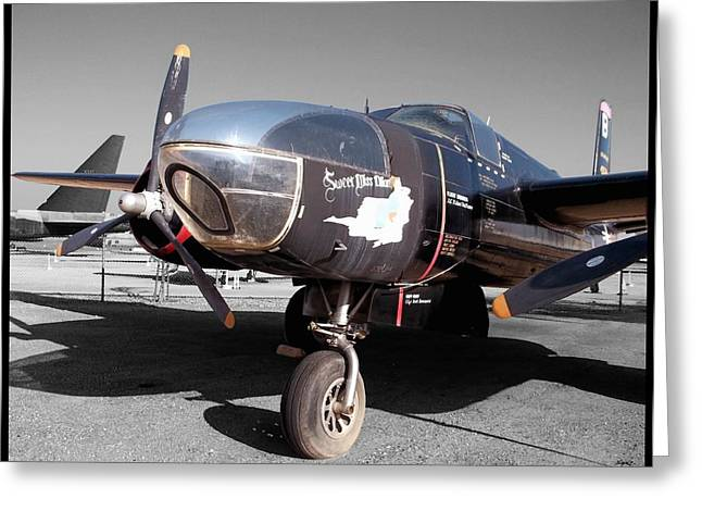Military Airplanes Greeting Cards - Decommissioned A-26C Invader Greeting Card by Glenn McCarthy Art and Photography