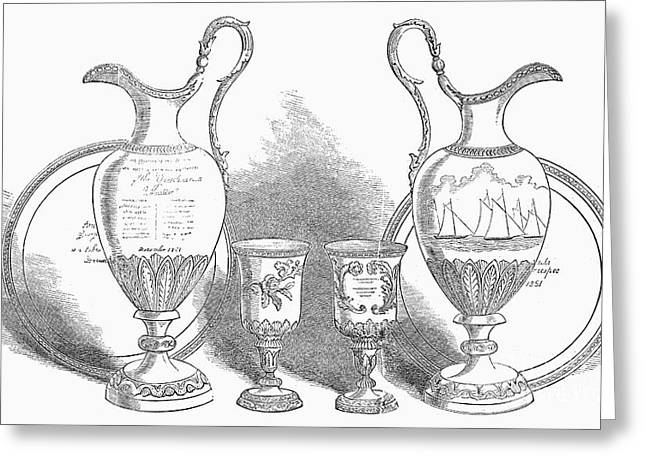 Goblet Greeting Cards - Decorative Service, 1852 Greeting Card by Granger