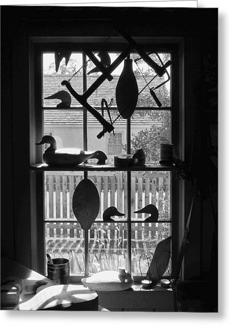 Duck Framed Prints Greeting Cards - Decoy Shop Greeting Card by Steven Ainsworth
