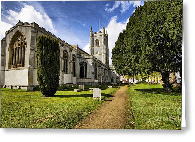 Dedham Greeting Cards - Dedham Church Greeting Card by Darren Burroughs