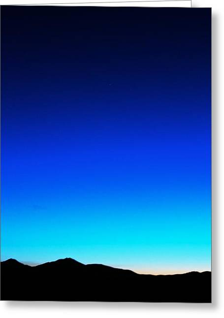 Sunset Posters Greeting Cards - Deep Blue  Greeting Card by Kevin Bone