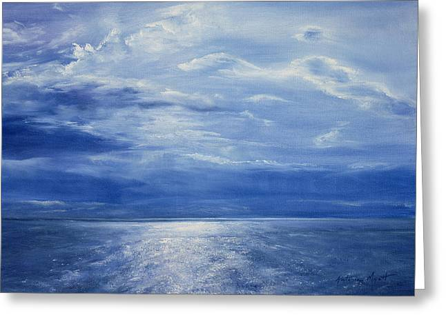 Deep Blue Sea Greeting Cards - Deep Blue Sea Greeting Card by Antonia Myatt