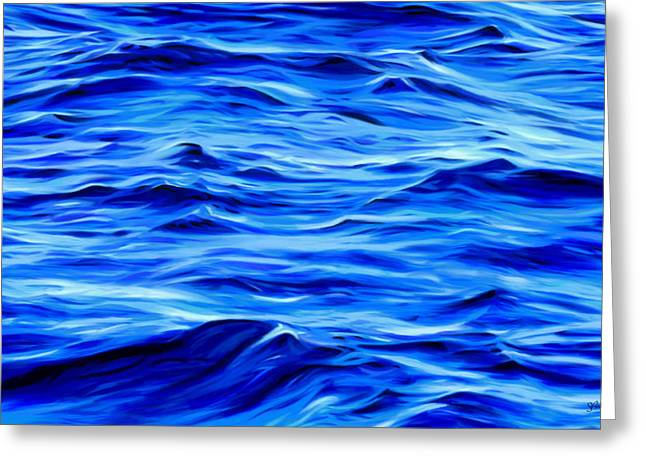 Sue Brehant Greeting Cards - Deep Blue Greeting Card by Sue  Brehant