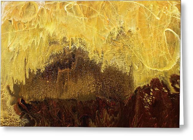 Cavern Mixed Media Greeting Cards - Deep Cavern Magic Greeting Card by Paul Tokarski