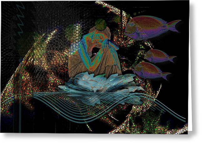 Subconscious Digital Art Greeting Cards - Deep Contemplation - Innere Einkehr Greeting Card by Mimulux patricia no
