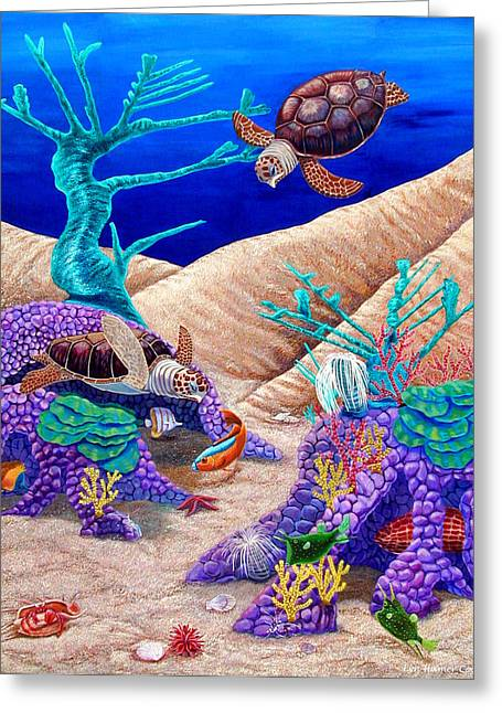 Sea Life Greeting Cards - Deep Dive  Greeting Card by Lyn Cook