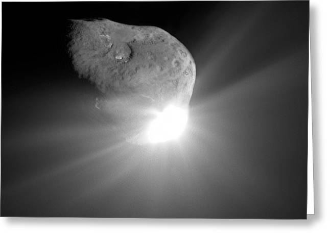 4th July Greeting Cards - Deep Impact Comet Strike Greeting Card by Nasa