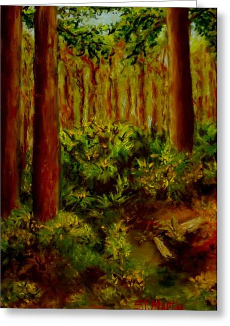 A Pine Grove Greeting Cards - Deep In The Pines Greeting Card by Annie St Martin