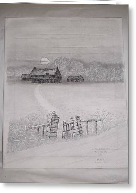 Barn Pen And Ink Greeting Cards - Deep south2 Greeting Card by William Deering