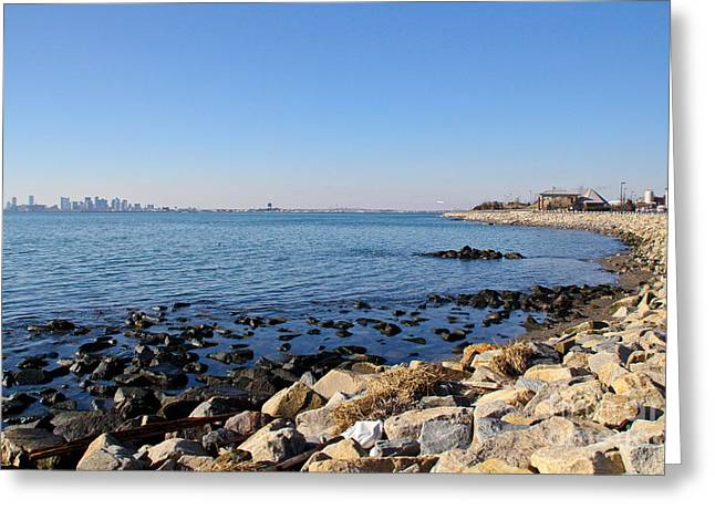 Winthrop Greeting Cards - Deer Island Coast Greeting Card by Extrospection Art