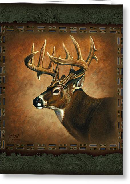 Low Greeting Cards - Deer Lodge Greeting Card by JQ Licensing