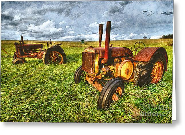 Deere 'ol Tractor IV Greeting Card by Dan Carmichael