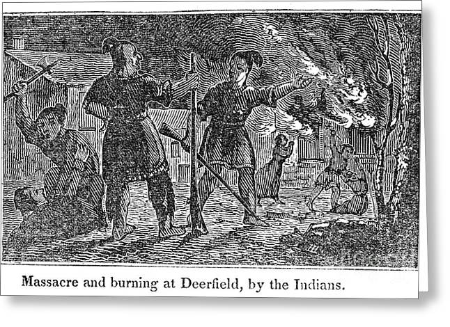 1704 Greeting Cards - Deerfield Massacre, 1704 Greeting Card by Granger