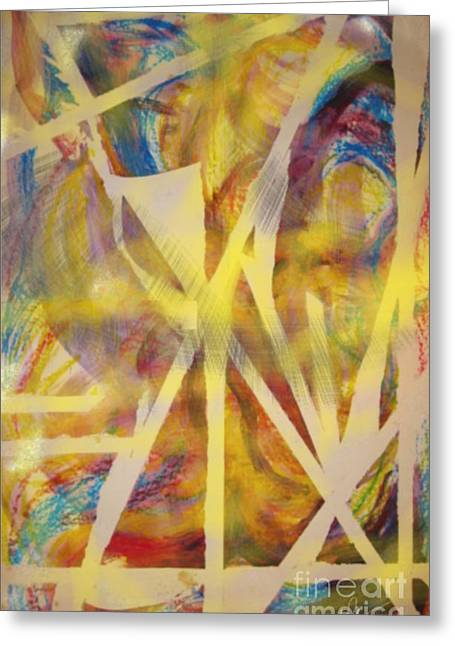 Define Mixed Media Greeting Cards - Defining Chaos Greeting Card by Paula Cork