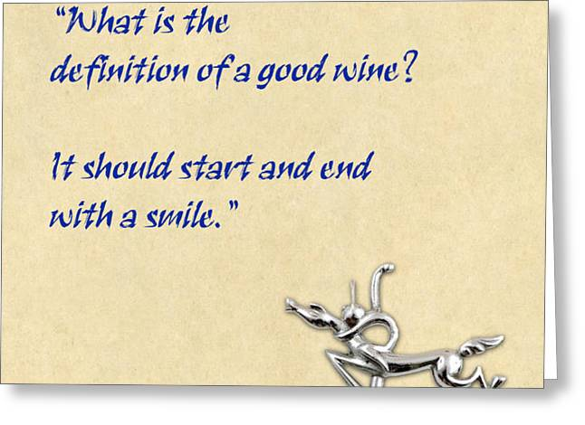 Definition of Wine Greeting Card by Elaine Plesser