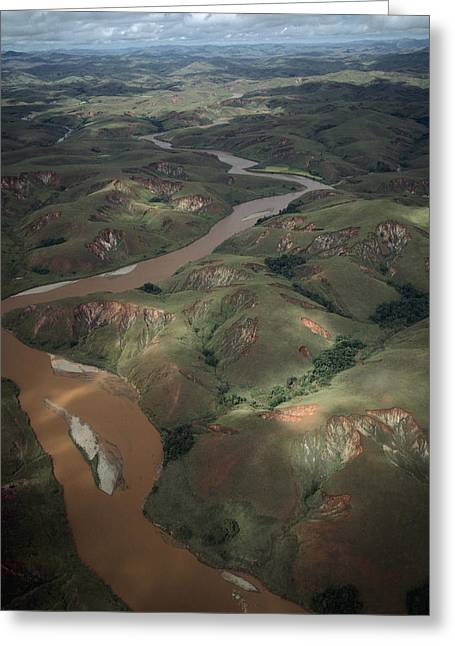 River View Greeting Cards - Deforested And Deeply Eroded Hills Greeting Card by Konrad Wothe