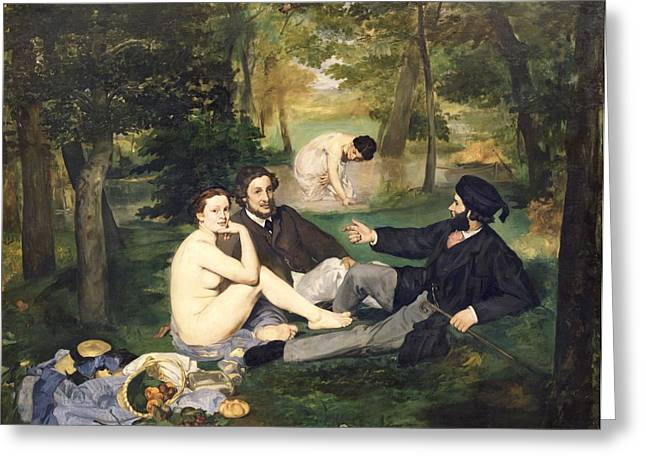 Allegories Greeting Cards - Dejeuner sur l Herbe Greeting Card by Edouard Manet
