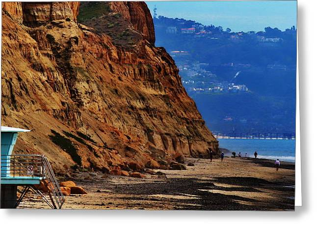Guard Tower Greeting Cards - Del Mar - Torrey Pines Beach Greeting Card by Russ Harris