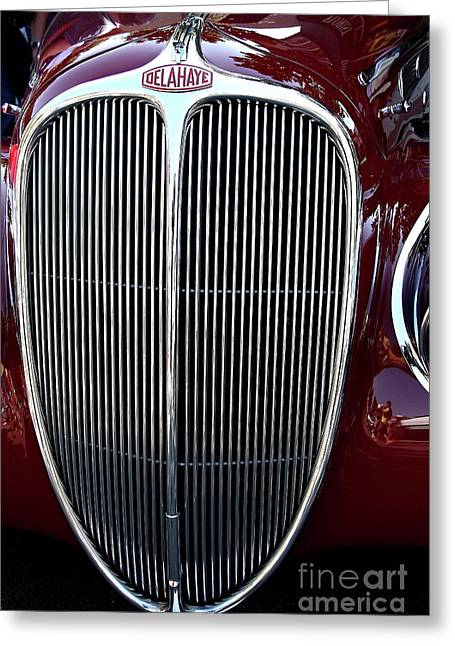 Import Car Greeting Cards - Delahaye Grille . 40D9459 Greeting Card by Wingsdomain Art and Photography