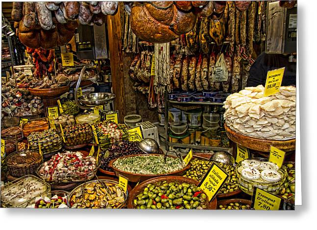 Deli In Palma De Mallorca Spain Greeting Card by David Smith