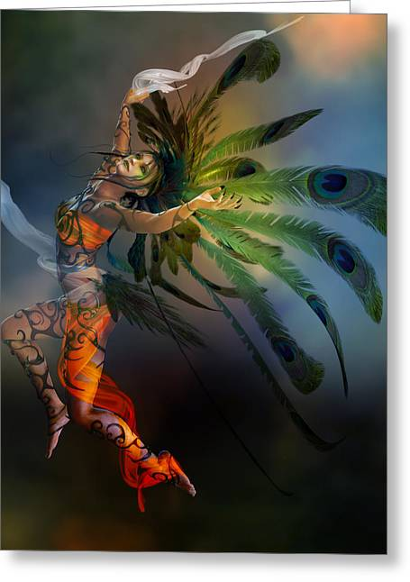 Dryads Greeting Cards - Deliahs Dance Greeting Card by Karen H