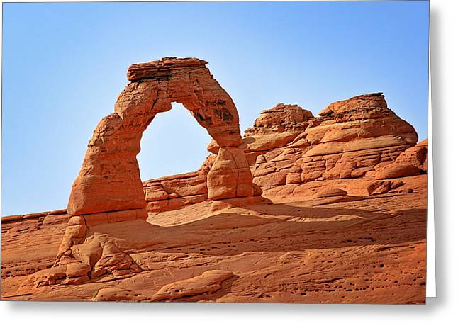 Natural Formations Greeting Cards - Delicate Arch The Arches National Park Utah Greeting Card by Christine Till