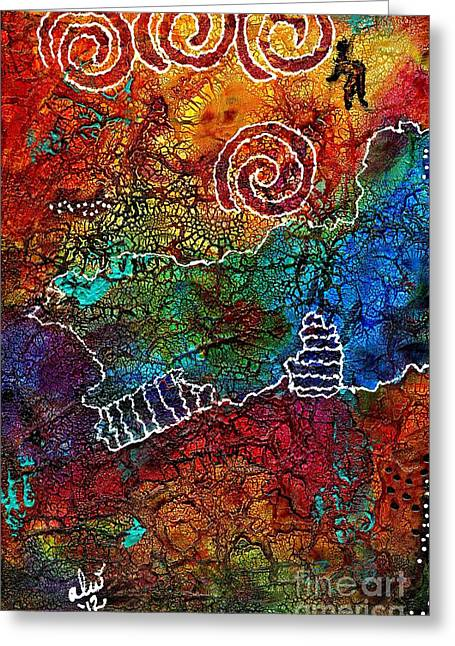 Survivor Art Greeting Cards - Delight in the Journey Greeting Card by Angela L Walker