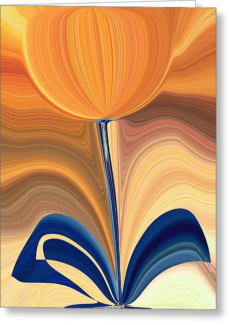 Blooms Greeting Cards - Delighted Greeting Card by Tim Allen