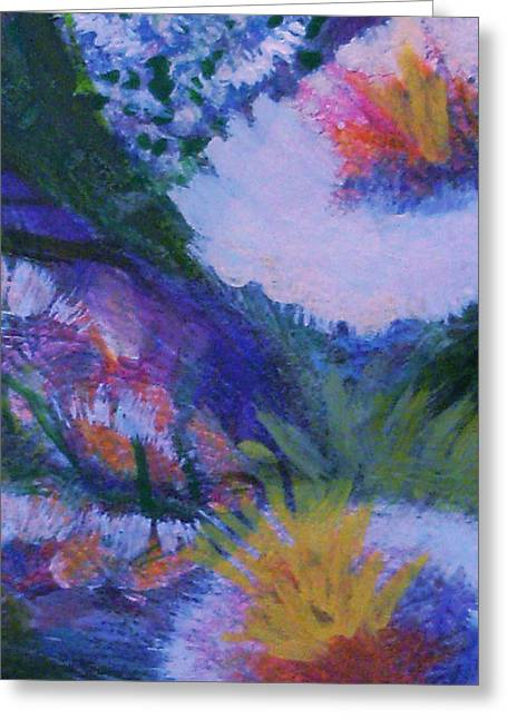 Les Fleurs Greeting Cards - Delightful and Bright  Greeting Card by Anne-Elizabeth Whiteway