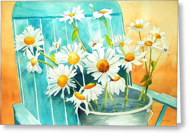 Maryann Greeting Cards - Delightful Daisies Greeting Card by Maryann Schigur