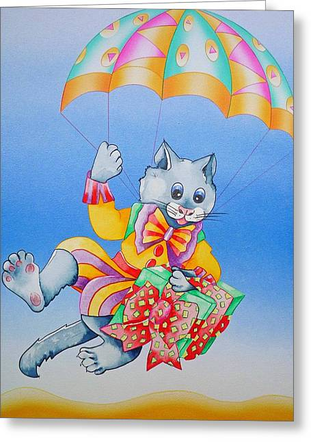 Kitten Sculptures Greeting Cards - Delivery Guy Greeting Card by Virginia Stuart