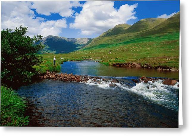 Fishing Creek Greeting Cards - Delphi Fishery, Co Mayo, Ireland Greeting Card by The Irish Image Collection