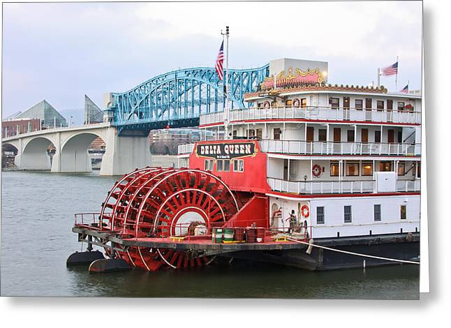 Tennessee Aquarium Greeting Cards - Delta Queen in Chattanooga Greeting Card by Tom and Pat Cory