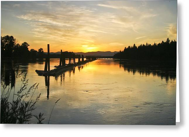 North Fork Greeting Cards - Delta Sunset Greeting Card by Albert Seger