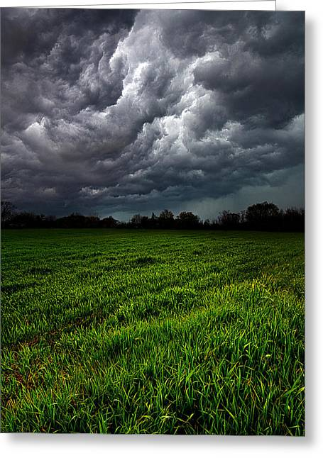 Summer Storm Photographs Greeting Cards - Deluge Greeting Card by Phil Koch